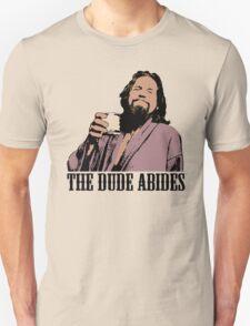 The Big Lebowski The Dude Abides Color T-Shirt T-Shirt