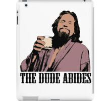 The Big Lebowski The Dude Abides Color T-Shirt iPad Case/Skin