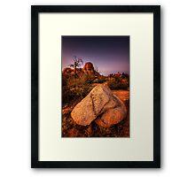 Twilight Dells Framed Print