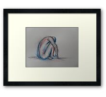 Alone - watercolour Framed Print