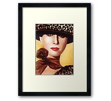 'Kerry' Portrait of a beautiful woman Framed Print