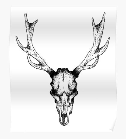 Deer dots tattoo  Poster