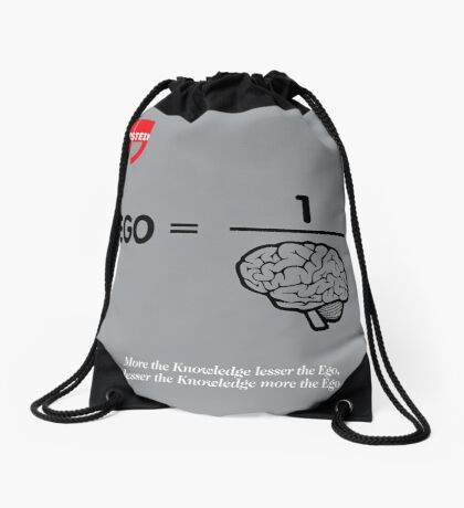 Albert Einstein Quote Drawstring Bag
