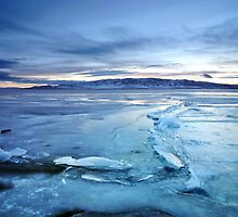 Utah Lake - Icy by Ryan Houston