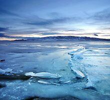 Utah Lake - Icy by Ryan Houston
