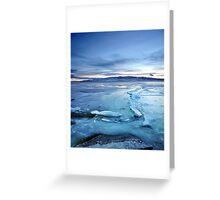Utah Lake - Icy Greeting Card