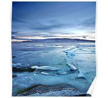Utah Lake - Icy Poster