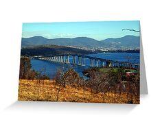 The Tasman Bridge. Hobart, Tasmania, Australia. Greeting Card