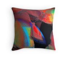 the red necktie under a chalk covered multi colored suit or love rained down.. take your pick Throw Pillow