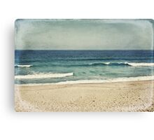 A Vintage Day At The Beach Canvas Print