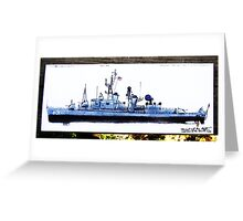 DDR 838, A view of my ship from an illustrators perspective  Greeting Card