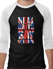 Real Brits Say Welcome Men's Baseball ¾ T-Shirt