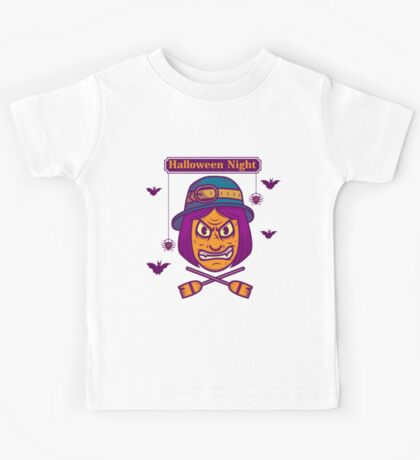 Halloween Night witch Kids Tee