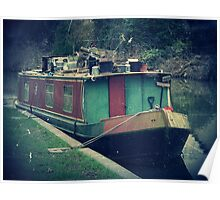 Narrow Boat, Kennet & Avon Canal, Wiltshire, UK Poster