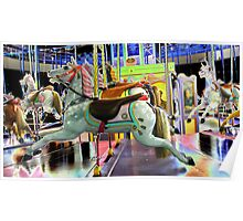 Childhood dreams are made of carousel  rides Poster