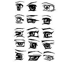 Manga Eyes Photographic Print
