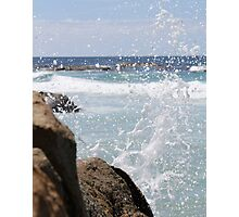 Water Splash-beer barrel beach  Photographic Print