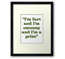 Leslie Knope Quote- Parks & Rec (Green Text) Framed Print