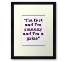 Leslie Knope Quote- Parks & Rec (Pink Text) Framed Print