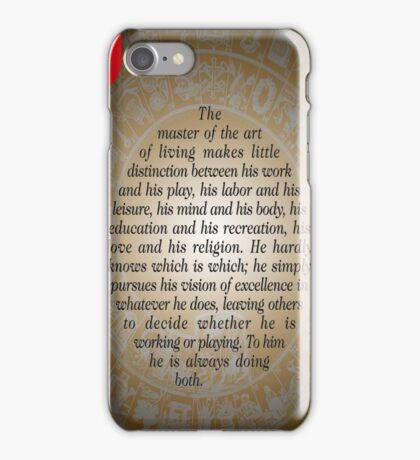 The Master of Art (Buddha's Quote) iPhone Case/Skin