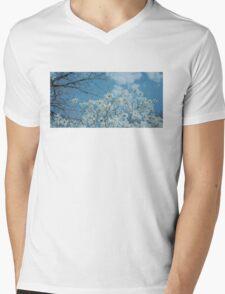 Springtime Magnolias Mens V-Neck T-Shirt
