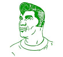 Kool Keith - Black Elvis (green) Photographic Print