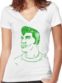 Kool Keith - Black Elvis (green) Women's Fitted V-Neck T-Shirt