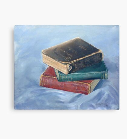 Old books - don't you just love `em Canvas Print