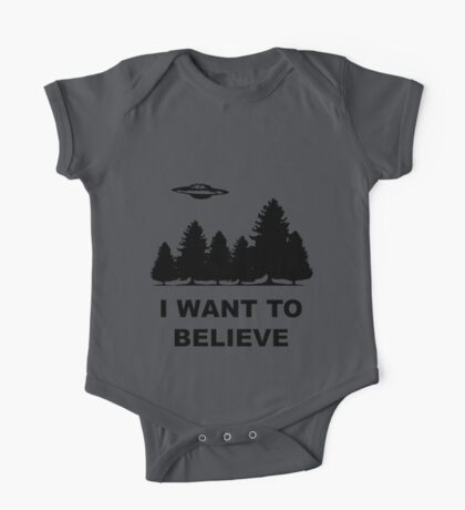 """""""I want to believe"""" X Files One Piece - Short Sleeve"""