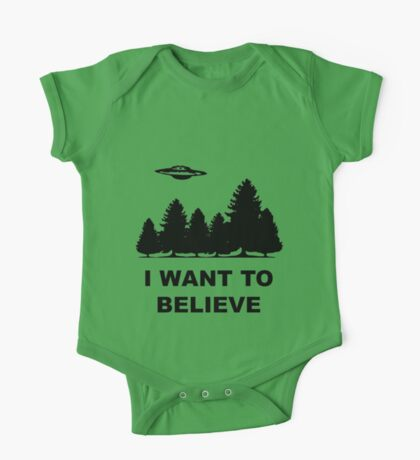 """I want to believe"" X Files One Piece - Short Sleeve"