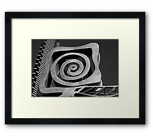 Textures of Gayip in Black & White Framed Print
