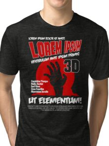 B Movie Poster Proposal Tri-blend T-Shirt