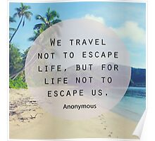 Travel Quote Poster