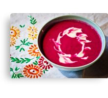 Beetroot Soup Canvas Print