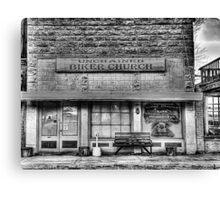 Biker Church - Chico , Texas Canvas Print