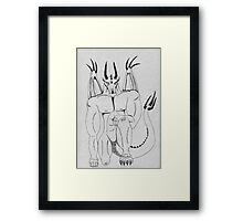 A King of Dragons Framed Print