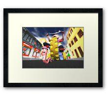 Extreme Race Framed Print