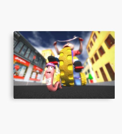 Extreme Race Canvas Print