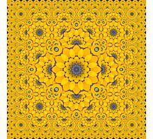Golden Button Squash Escher Tessellation Photographic Print