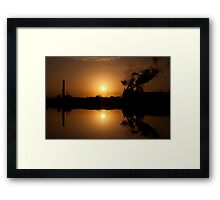Sunset and the Georgetown Steel Mill Framed Print