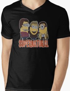 MINIONS T-shirt SUPERNATURAL Mens V-Neck T-Shirt