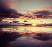 sunset on Keel strand Achill Island, Ireland by Ciaran  Duignan
