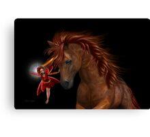 The Unicorn and the Fairy Canvas Print