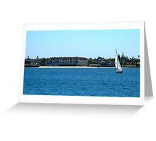 Sailboat in San Diego Greeting Card