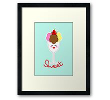 Cute Fun Ice Cream Sundae Sweet Framed Print
