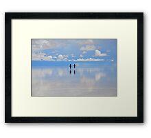 Salar de Uyuni, flooded, Bolivia Framed Print
