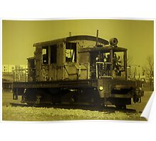 Ole Rusty on the Tracks Poster