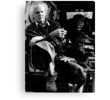 Informal portrait of a farrier (35mm) Canvas Print