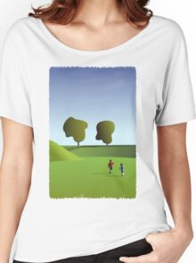 Kidz love to run in Copenhagen... (T-Shirt) Women's Relaxed Fit T-Shirt
