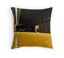 Subway Wait Throw Pillow